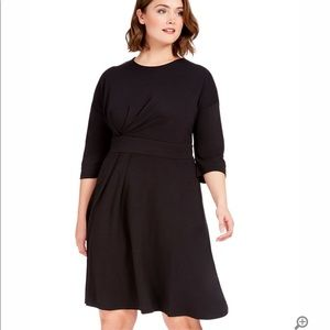 Eloquii Asymmetrical 3/4 Sleeve Dress 22W